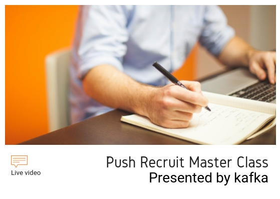 【Advanced】Push Recruit Master Class